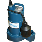 "Barnes 112549 SP33A Submersible Effluent Pump 1/3 HP 120V 1-1/2"" FNPT Discharge Mechanical Float"