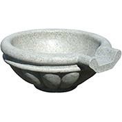 "Roman Scupper Fountain 24"", Speckled Granite"