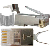 Vertical Cable, 012-021, Cat 6, RJ45 Shielded Modular Plugs, 8P 8C, 50 Micro-Inches Gold Plated
