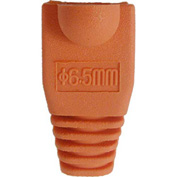 Vertical Cable, 015-035OR-10, RJ45 PVC Slip On Boots For Cat 5E & Cat 6 - Orange - 10 Pack