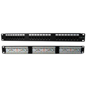 Vertical Cable, 041-372/24, Cat 5E 24 Port 110-IDC Patch Panel