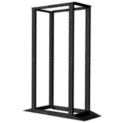 Vertical Cable, 047-WOR-0445, 45U 4 Post Open Rack, Steel Frame Black