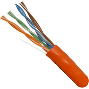 Vertical Cable 054-2392OR CAT5e 350MHz Solid Bulk Cable, Orange, 1000ft.