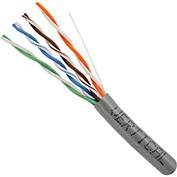 Vertical Cable 054-447GY CAT5e 350MHz Solid Bulk Cable, Gray, 1000ft.