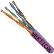 Vertical Cable, 054-448PR, Cat 5E 24AWG UTP 4 Pair Solid Bare Copper 350Mhz Riser Rated PVC Purple