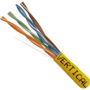 Vertical Cable, 054-451YL, Cat 5E 24AWG UTP 4 Pair Solid Bare Copper 350Mhz Riser Rated PVC Yellow