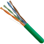 Vertical Cable, 056-462/P/GR, Cat 5E 24AWG UTP 4 Pair Solid Bare Copper 350Mhz CMP Rated PVC Green