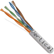 Vertical Cable, 056-466/P/WH, Cat 5E 24AWG UTP 4 Pair Solid Bare Copper 350Mhz CMP Rated PVC White