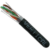Vertical Cable, 057-468/S/BK, Cat 5E STP 1000' 4 Pair Bulk Black-PVC Jacket AWG24 Solid-Bare Copper