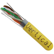 Vertical Cable, 057-475/S/YL, Cat 5E STP 1000' 4 Pair Bulk Yellow-PVC Jacket AWG24 Solid-Bare Copper