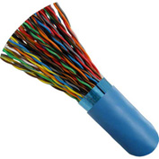 Vertical Cable, 057-486/S/BL1000, Cat 5E STP 25 Pair Blue PVC Jacket 24 AWG Bare Copper 1000 Ft