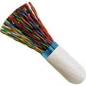 Vertical Cable, 057-487/S/WH200, Cat 5E STP 25 Pair Bulk White PVC Jacket 24 AWG Bare Copper 200 Ft