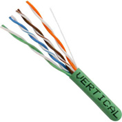 Vertical Cable 066-556/P/GR CAT6 550MHz Plenum Rated Splineless Bulk Cable, Green, 1000ft.