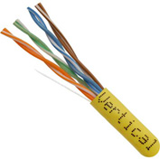 Vertical Cable, 066-660/P/YL, Cat 6 23AWG UTP 4 Pair Spline-Less 550Mhz Plenum Rated PVC Yellow