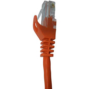 Vertical Cable, 072-655/25OR, Cat 5E UTP Mold Injection Snagless Patch Cord 25 Ft, Orange