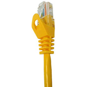 Vertical Cable, 072-659/25YL, Cat 5E UTP Mold Injection Snagless Patch Cord 25 Ft, Yellow