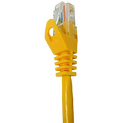 Vertical Cable, 074-893/75YL, Cat 6 UTP Mold Injection Snagless Patch Cord 75 Ft, Yellow