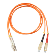Vertical Cable 261-LCSC/3MM, Fiber Optic Patch Multimode 62.5 LC-SC PVC, 9.84 Ft