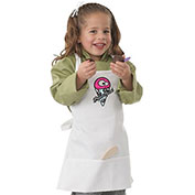 Chef Works Kid's White Bib Apron W/Brain Freeze Screen Print, White A3303WHT0