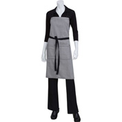Chef Works  AB037BLK0 Portland Bib Apron, Denim, Black, 34