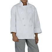 Chef Works® Kid's Chef Coat, White, M - CWBJWHTM