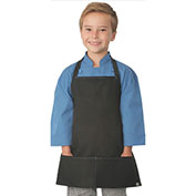 Chef Works® Kid's Apron Black W/Blue Stitch - KA001B1B0