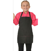 Chef Works® Kid's Apron, Black W/Berry Stitch - KA001B2B0