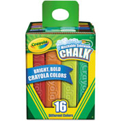 Crayola® Washable Sidewalk Chalk, 16 Assorted Colors