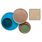 """Cambro 1100329 - Camtray 11"""" Round,  Linen Toffee - Pkg Qty 12"""