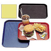 "Cambro 1216FF108 - Tray Fast Food 12"" x 16"",  Primrose Yellow - Pkg Qty 12"