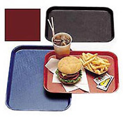 "Cambro 1418FF416 - Tray Fast Food 14"" x 18"",  Cranberry - Pkg Qty 12"