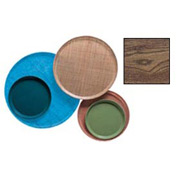 """Cambro 1600304 - Camtray 16"""" Round,  Country Oak - Pkg Qty 12"""