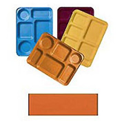 "Cambro 1222D222 - Tray Dietary 12"" x 22"", Orange Pizazz - Pkg Qty 12"