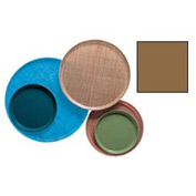 "Cambro 900508 - Camtray 9"" Round,  Suede Brown - Pkg Qty 12"