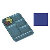 """Cambro BCT1014186 - School Tray 10"""" x 14"""" 6 Compartment, Navy Blue - Pkg Qty 24"""