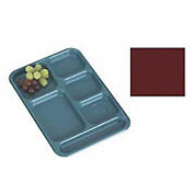 "Cambro BCT1014416 - School Tray 10"" x 14"" 6 Compartment, Cranberry - Pkg Qty 24"