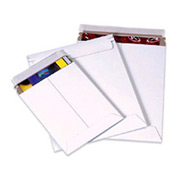 "Self-Seal Stayflat Mailer, 9""W x 11-1/2""L, White, 25 Pack"