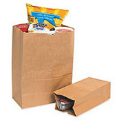 "#4 Grocery Bag 5""W x 3-1/4""D x 9-3/4""H 500 Pack"