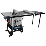 Delta 36-5152 10 In. Left Tilt Table Saw W/52 In. Right Rip, Cast Iron Wings