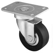 "Darnell-Rose 50 Stainless Series Swivel Plate Caster 620713 Hard Rubber 4"" Dia. 165 Lb. Cap."