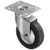 "Darnell-Rose 70 Series Swivel Plate Caster With Brake 631078 Nylon 5"" Dia. 600 Lb. Cap."