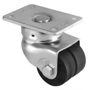 "Darnell-Rose 30 Series Swivel Plate Caster With Brake 663764 Neoprene Rubber 2"" Dia. 250 Lb. Cap."