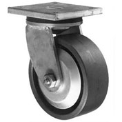 "Darnell-Rose 20 Series Rigid Plate Caster 768740 Hard Rubber 5"" Dia. 800 Lb. Cap."