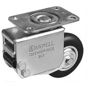 "Darnell-Rose Shock Absorbing Series Swivel Plate Caster 770014 Neoprene Rubber 3"" Dia. 110 Lb. Cap."