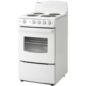 "Danby DER201W - Electric Range, 20""W, 220V, 2.4 Cu. Ft. Oven Capacity With Door Window"