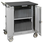 Datum Mobile Storage & Charging Cart for 32 Laptops w/ Advanced Timer