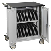 Datum Mobile Storage & Charging Cart for 32 Tablets w/ Advanced Timer
