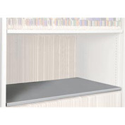 Rotary File Cabinet Components, Legal Depth Flat Shelf, Light Gray