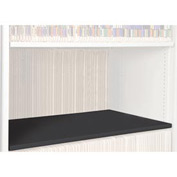 Rotary File Cabinet Components, Letter Depth Flat Shelf, Black