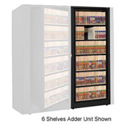 Rotary File Cabinet Adder Unit, Legal, 4 Shelves, Black